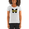 Black-Lives-Matter---Horizontal-Yellow-Black_mockup_Front_Womens_White-Fleck-Triblend