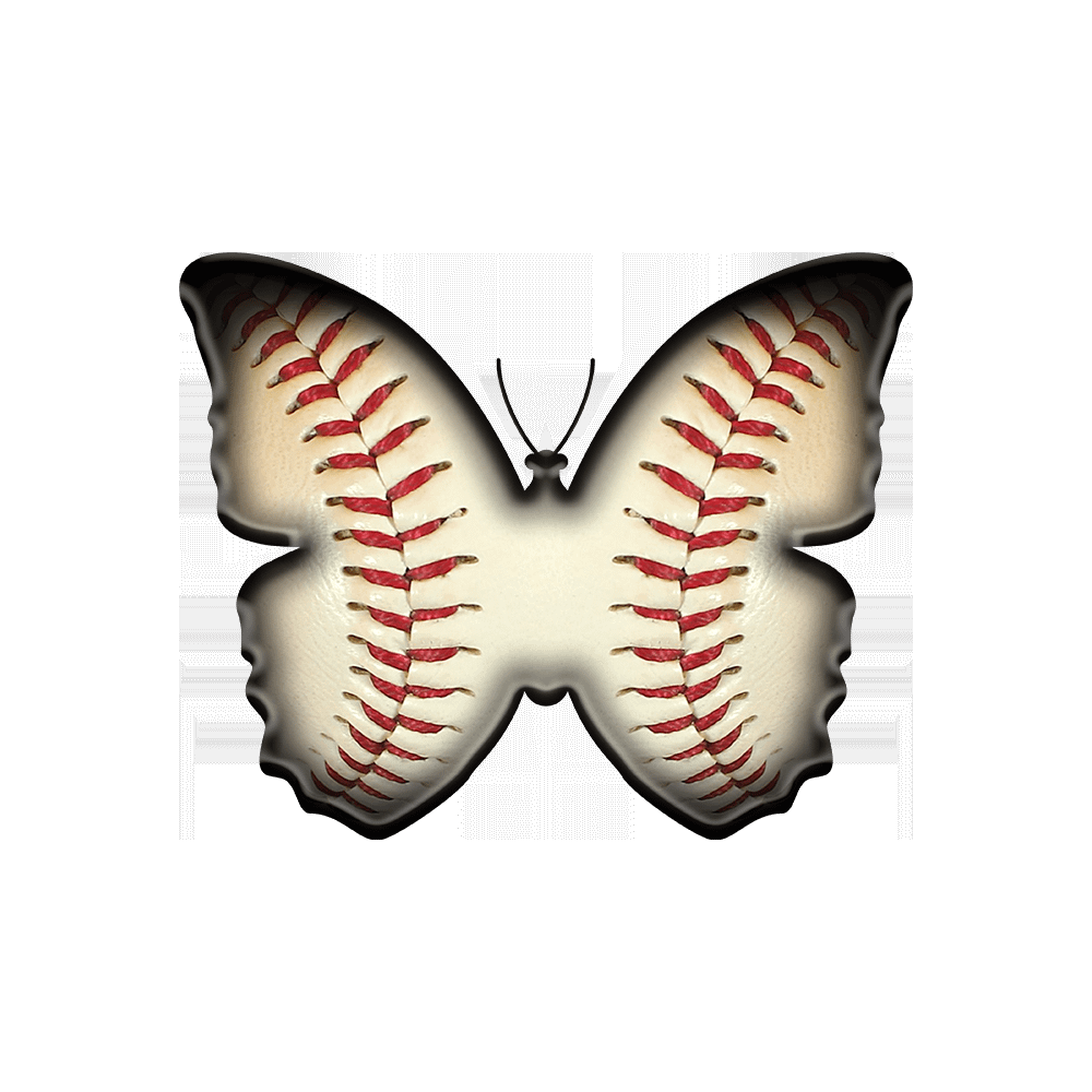 Baseball Butterfly T-Shirt Design by EventButterfly.com for Opening Day