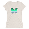 Winter to Spring Butterfly T-Shirt in a Womens Crew Triblend Oatmeal by EventButterfly.com