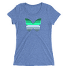 Winter to Spring Butterfly T-Shirt in a Womens Crew Triblend Blue by EventButterfly.com